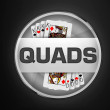 Quads Poker Club - Bangalore Poker Sports logo